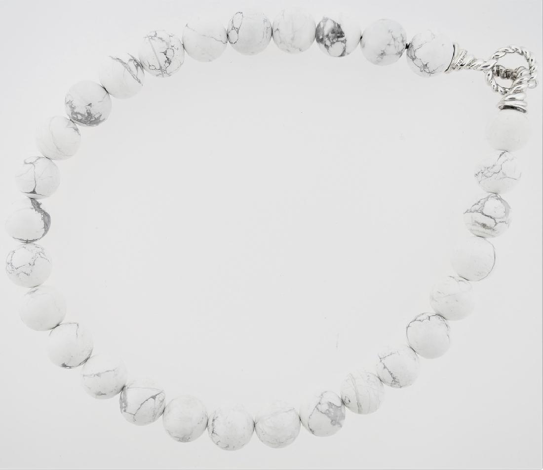TIFFANY & CO WHITE MOOKAITE BEADED NECKLACE