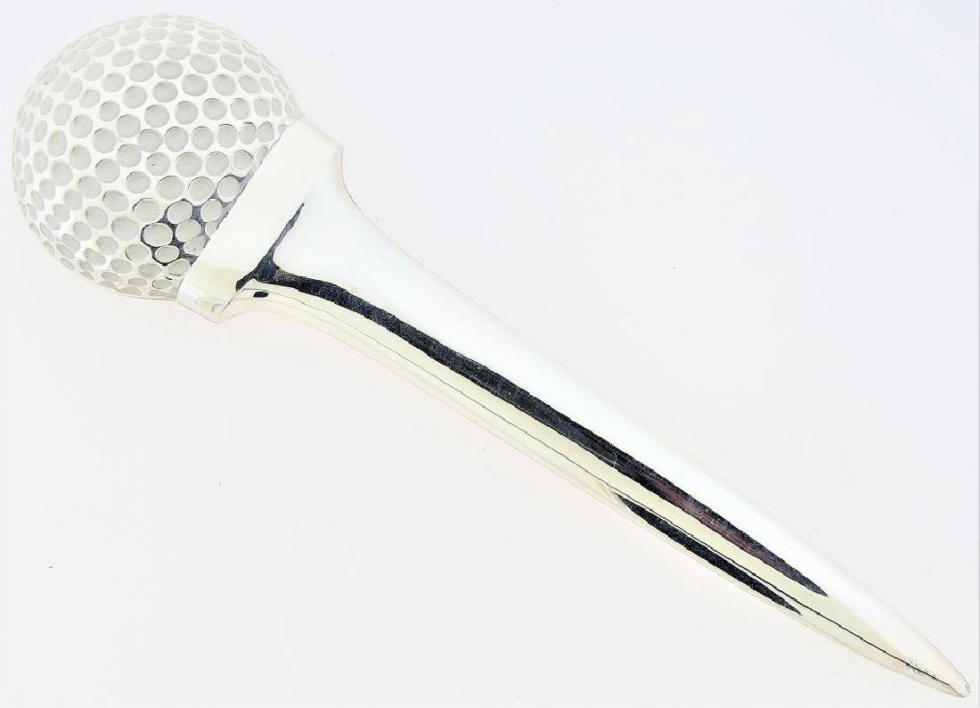 TIFFANY & CO STERLING SILVER GOLF LETTER OPENER