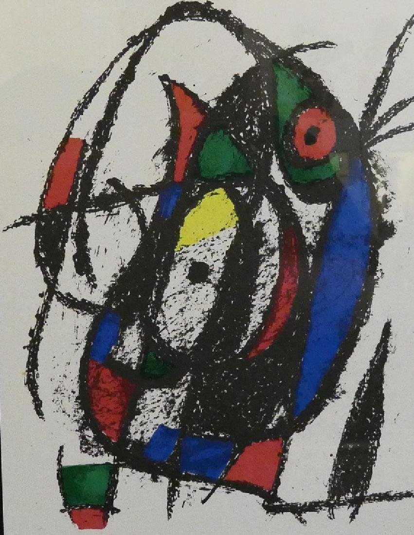 JOAN MIRO UNSIGNED ABSTRACT COLOR LITHOGRAPH
