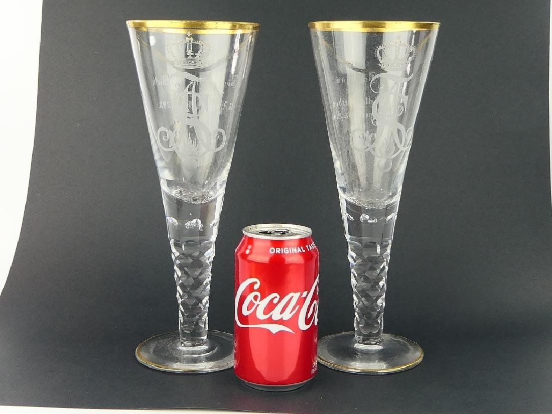 1898 Pr GERMAN IMPERIAL CYPHER MARRIAGE GLASSES - 2