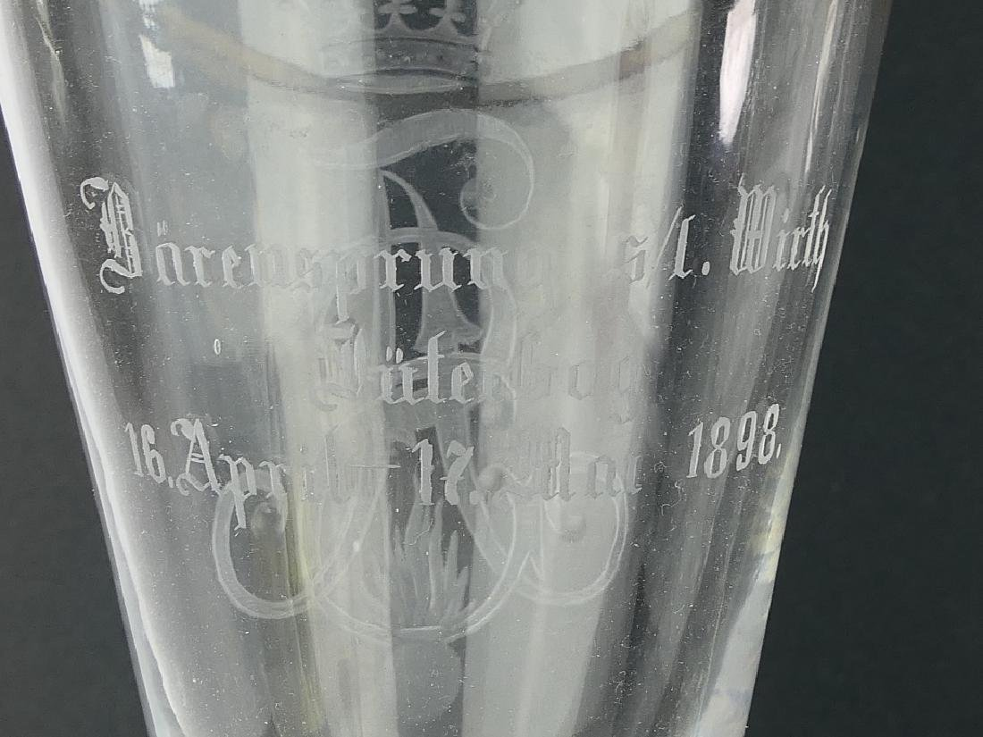 1898 Pr GERMAN IMPERIAL CYPHER MARRIAGE GLASSES - 6