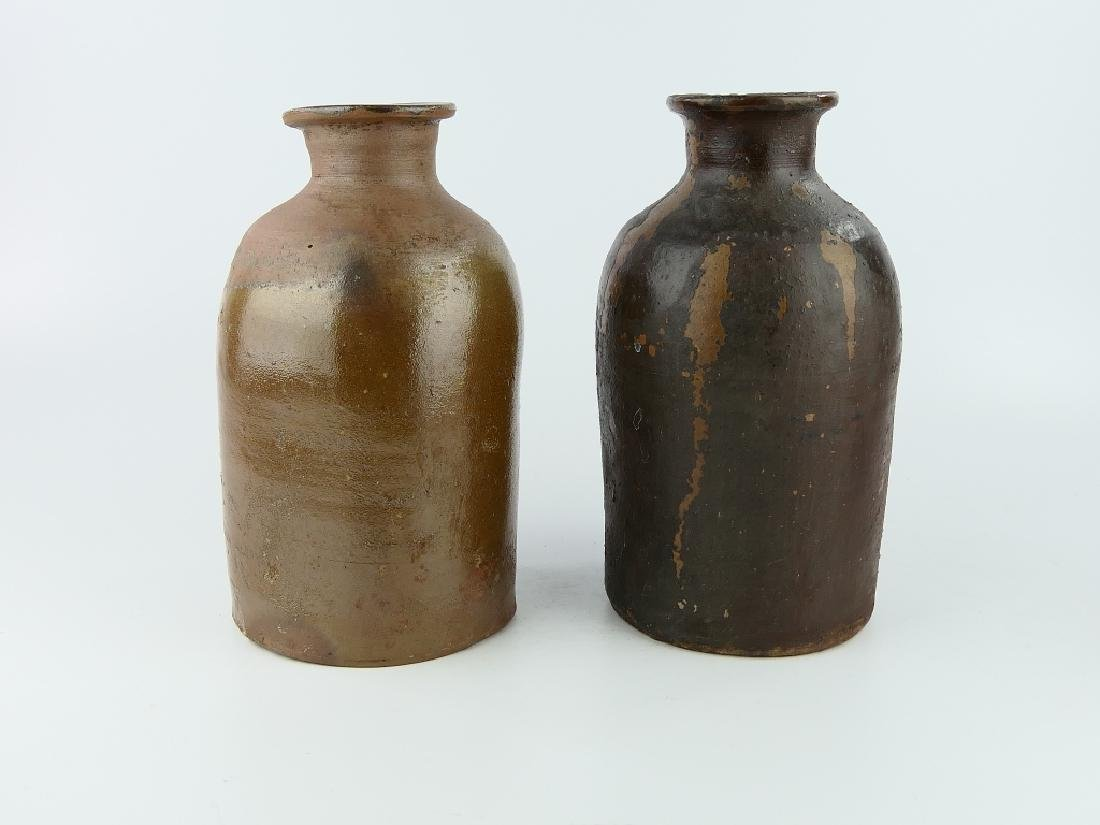 2 WILLIAM HARE SALT-GLAZE POTTERY CANNING JARS - 5