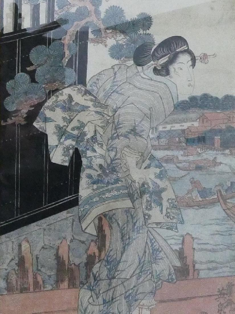 ANTIQUE JAPANESE COLORED WOODBLOCK - 2