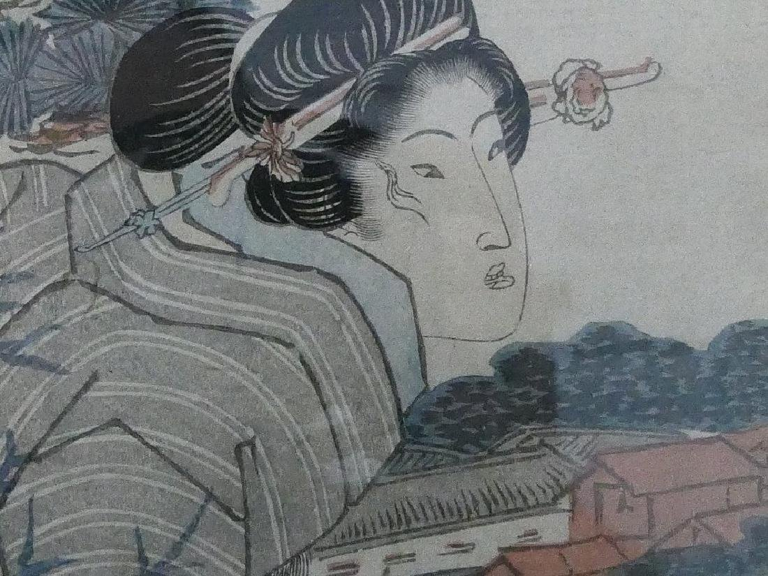 ANTIQUE JAPANESE COLORED WOODBLOCK - 4