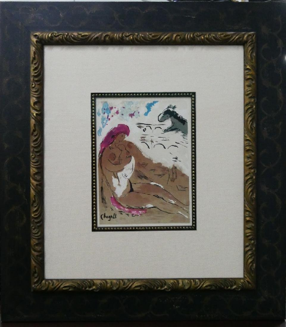 MARC CHAGALL PLATE SIGNED COLOR LITHO