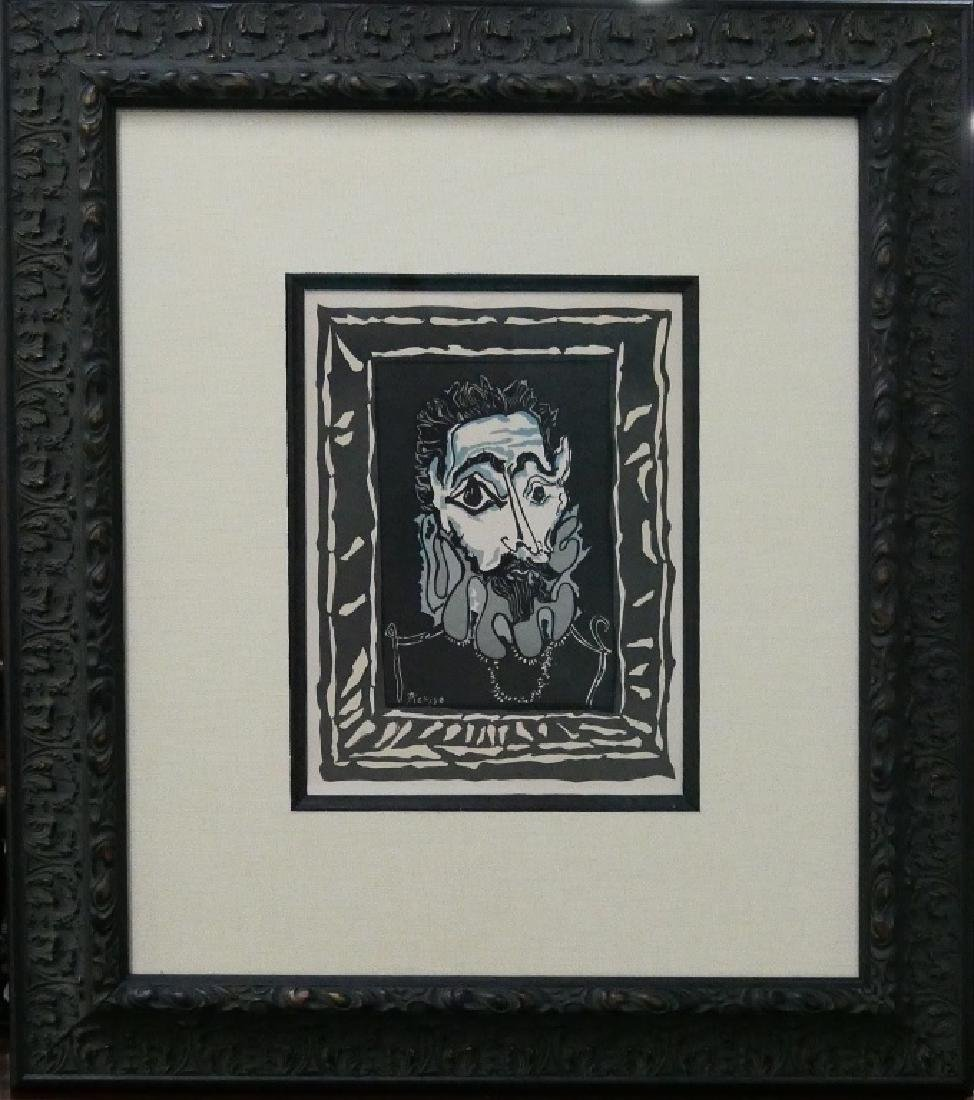 PABLO PICASSO COLOR PLATE SIGNED LITHO