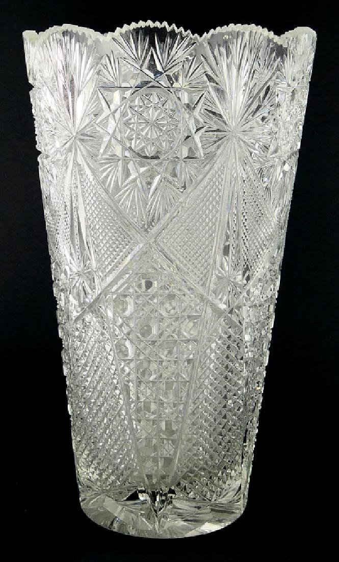 "AMERICAN BRILLIANT PERIOD CUT CRYSTAL 12"" VASE"