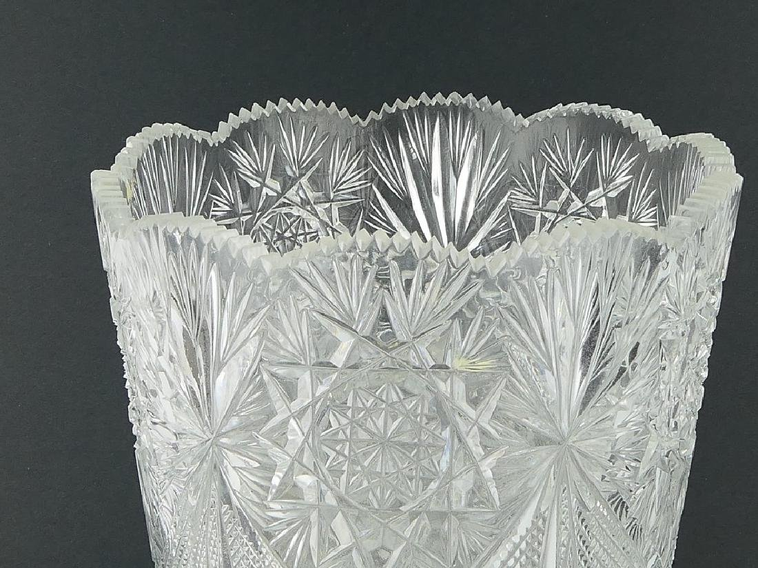 "AMERICAN BRILLIANT PERIOD CUT CRYSTAL 12"" VASE - 3"