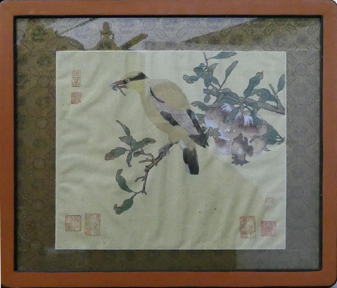 CHINESE MARKED HAND PAINTING ON SILK
