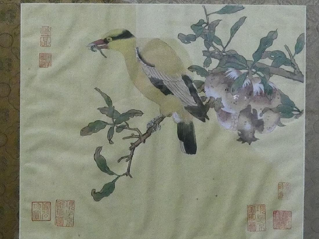 CHINESE MARKED HAND PAINTING ON SILK - 2