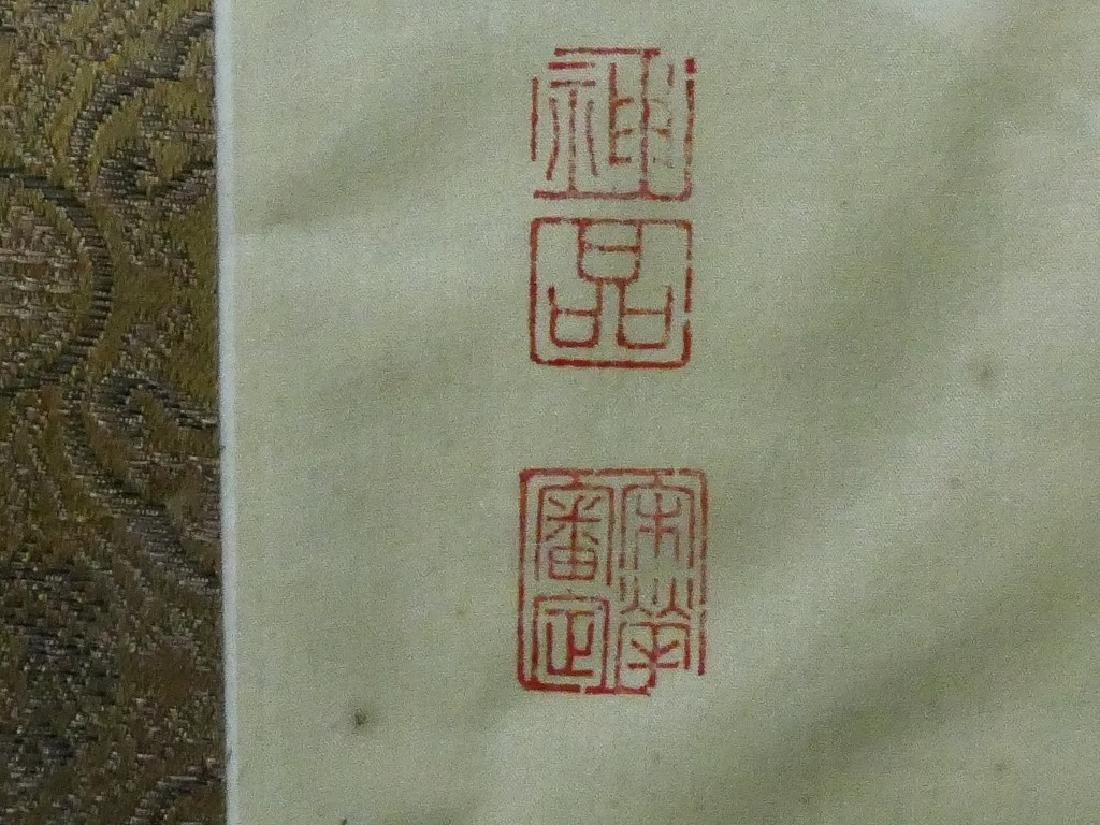 CHINESE MARKED HAND PAINTING ON SILK - 3