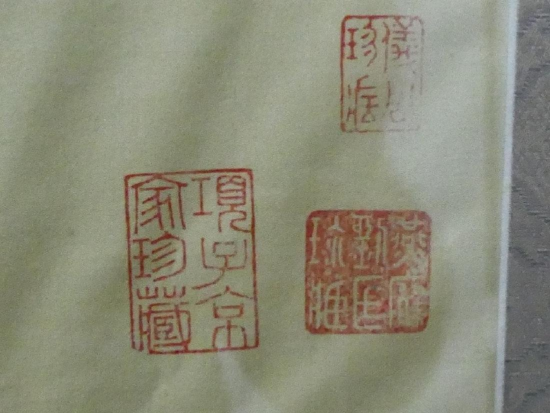 CHINESE MARKED HAND PAINTING ON SILK - 5
