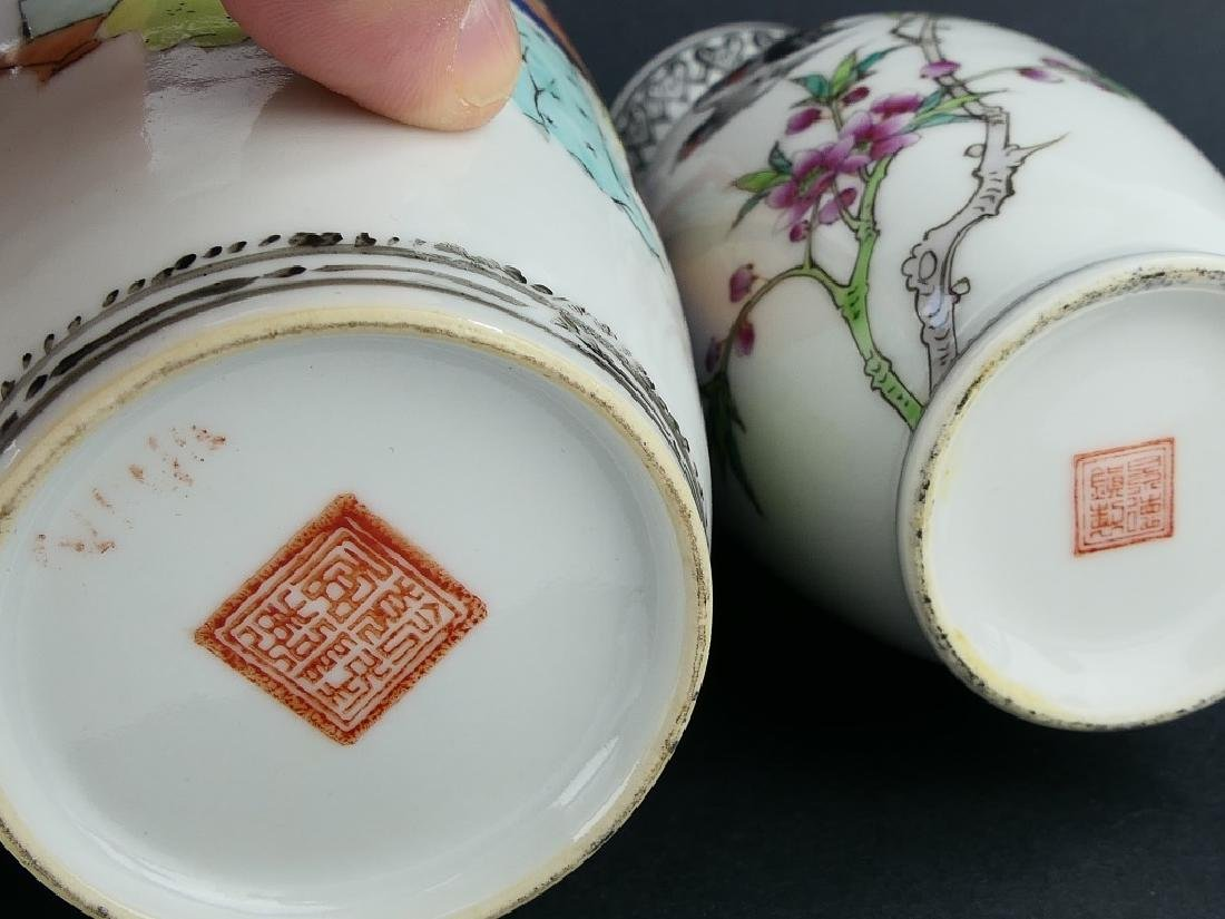 LOT OF 3 CHINESE FAMILLE ROSE PORCELAIN VASES - 9