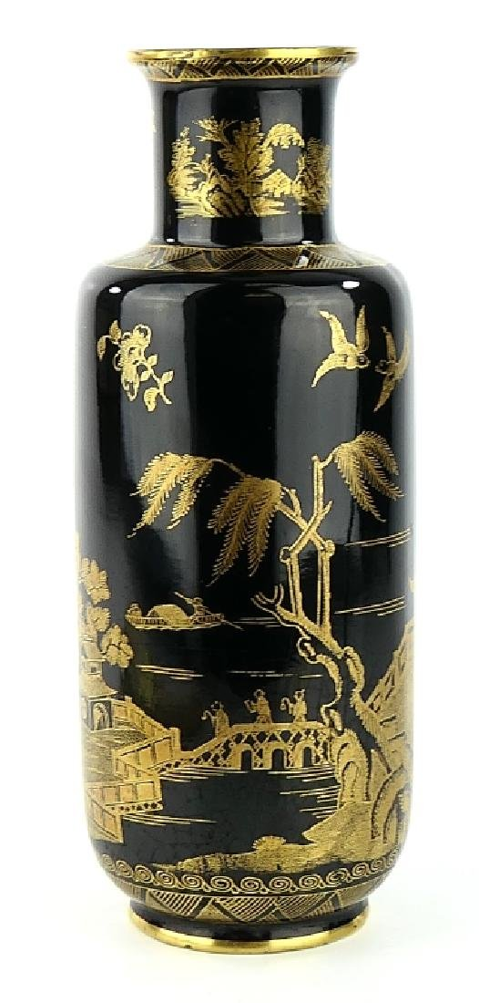 """BOOTHS ENGLAND """"WILLOW"""" CHINOISERIE PORCELAIN VASE"""
