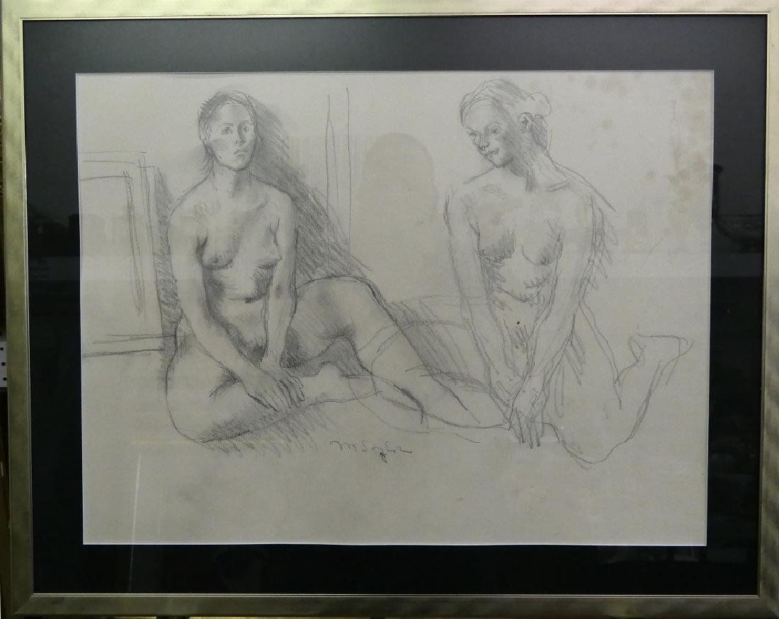 MOSES SOYER (NEW YORK 1899-1974) PENCIL NUDE STUDY