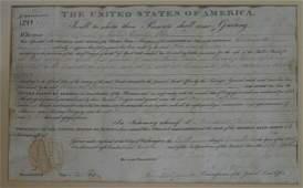 1831 ANDREW JACKSON OHIO LAND GRANT ON PARCHMENT