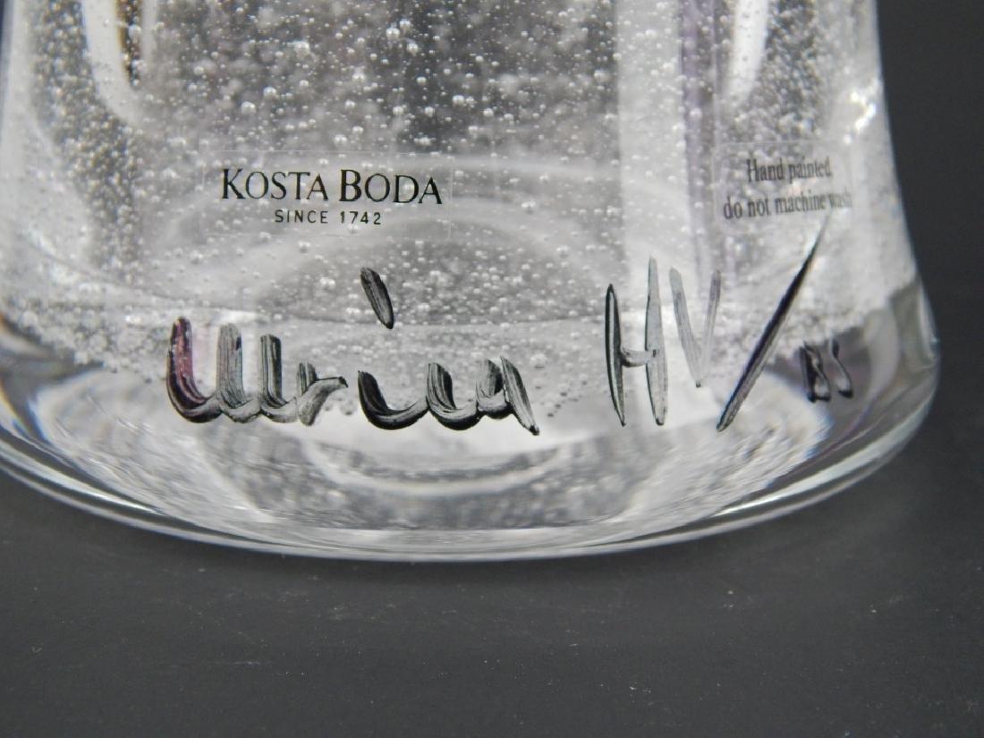 """ULRICA VALLIEN KOSTA BODA """"FACE"""" ART GLASS VASE - 4"""