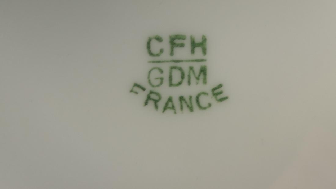 Pr CFH/GDM LIMOGES FLORAL OVAL SERVING PLATTERS - 5