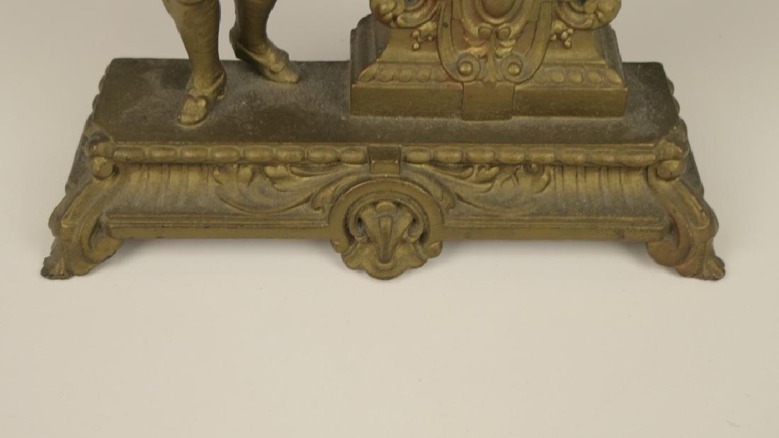 1878 ANSONIA GILT METAL CASE VANITY DESK CLOCK - 4