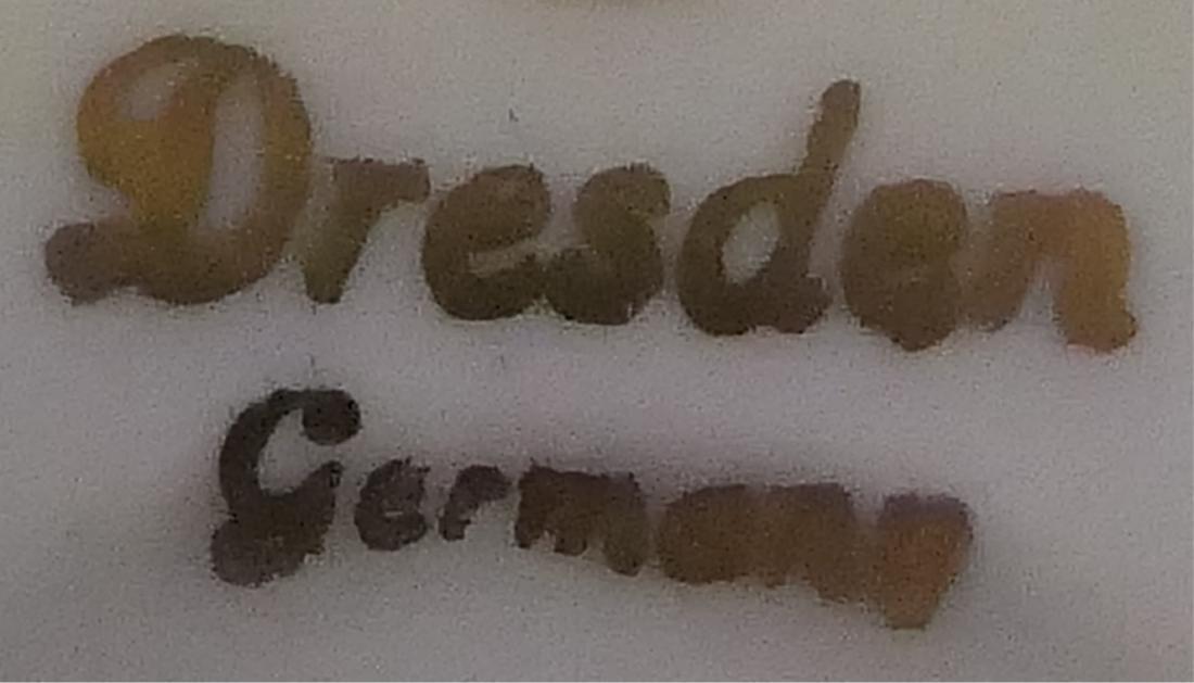 DRESDEN GREEN WATTEAU DEMITASSE CUP & SAUCER SET - 6