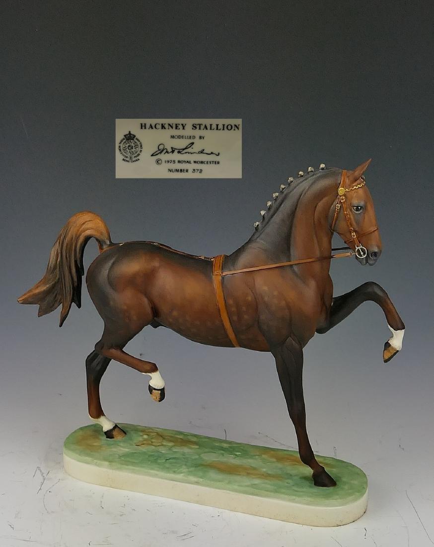 """ROYAL WORCESTER """"HACKNEY STALLION"""" HORSE FIGURE"""