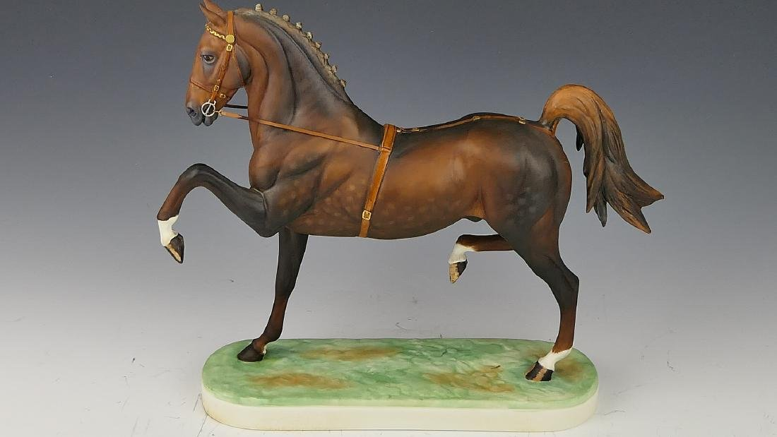 """ROYAL WORCESTER """"HACKNEY STALLION"""" HORSE FIGURE - 6"""