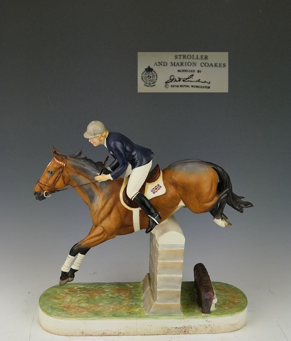 """ROYAL WORCESTER """"STOLLER & MARION COAKES"""" FIGURE"""
