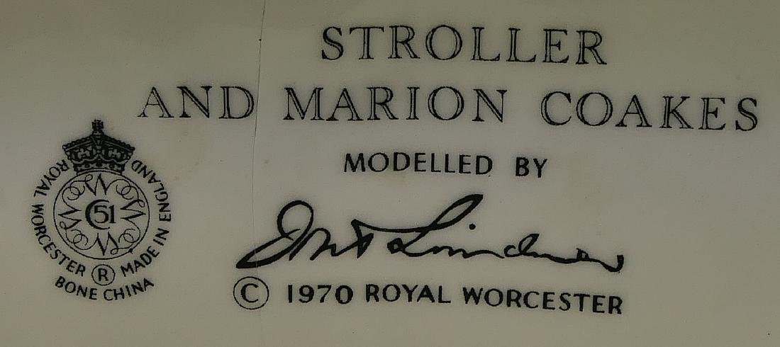 """ROYAL WORCESTER """"STOLLER & MARION COAKES"""" FIGURE - 9"""
