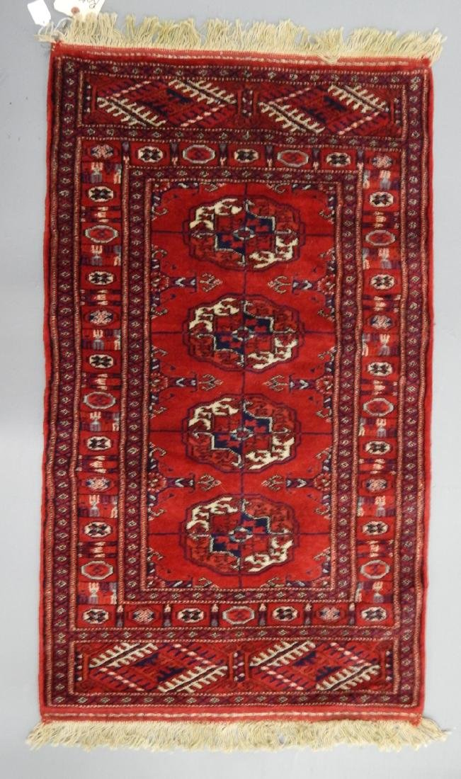 2x3' PERSIAN BOKHARA HAND KNOTTED RUG