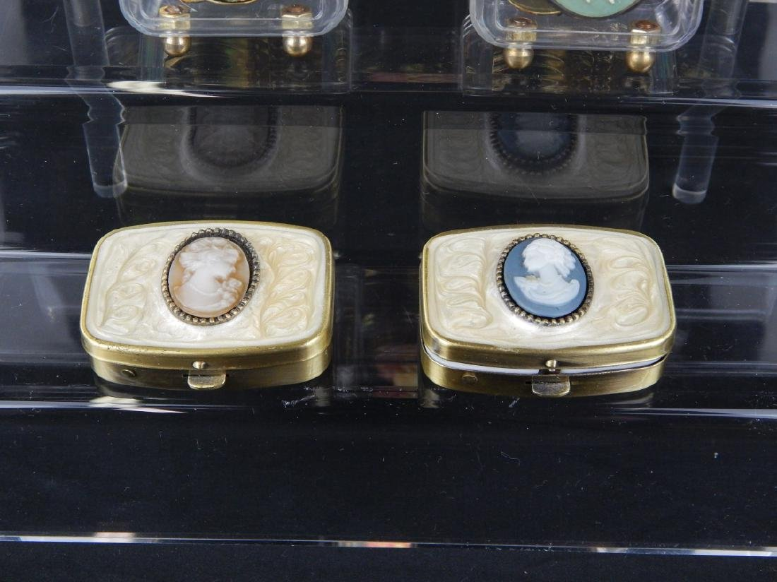 7 CAMEO DESIGN MUSIC BOXES AND COMPACTS - 4