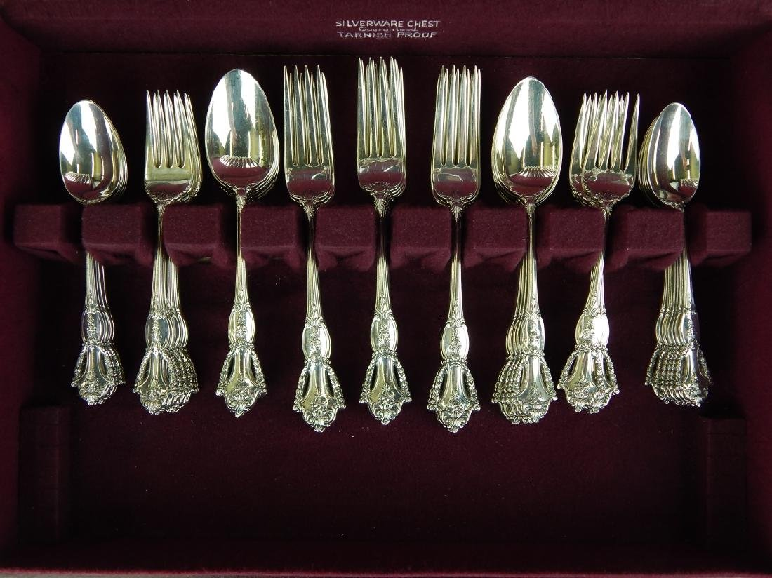 "60pc TUTTLE ""BEAUVOIR"" STERLING FLATWARE SET NIXON - 3"