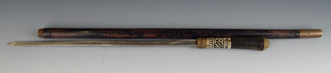 ANTIQUE RARE SWAGGER STICK CANE SWORD - 4