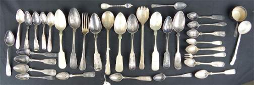 36pc AMERICAN COIN SILVER STERLING  PLATED SPOONS