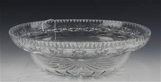 WATERFORD CUT CRYSTAL OVAL CENTERPIECE BOWL