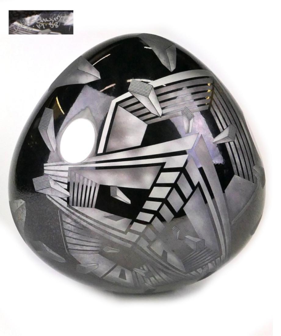 DAVID SCHWARZ (USA b1952) GEOMETRIC GLASS SCULPTUR