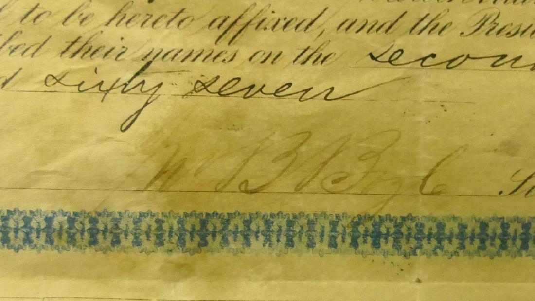 1867 $1000 W MARYLAND RAILROAD 2nd MORTGAGE BOND - 4