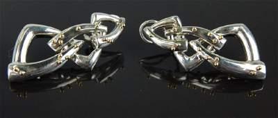 TIFFANY & CO 18K GOLD STERLING DANGLE EARRINGS