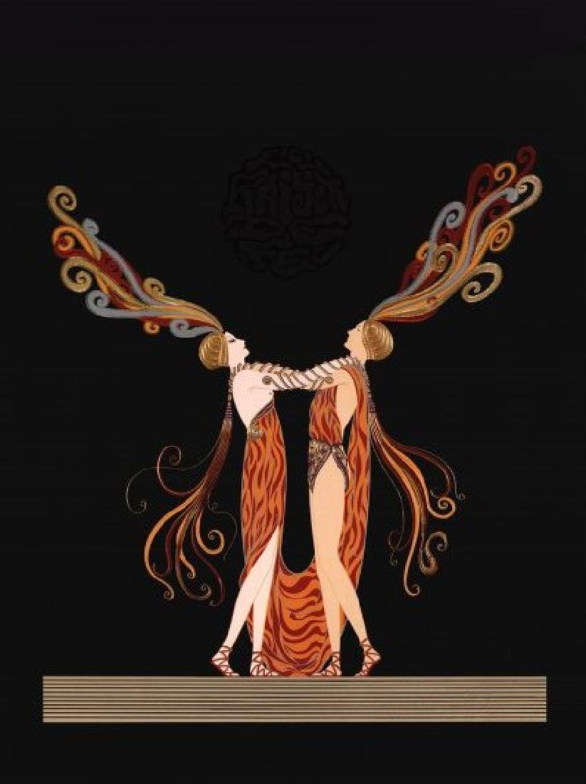 "ERTE ""KISS OF FIRE (LOVE & PASSION)"" AP SERIGRAPH"
