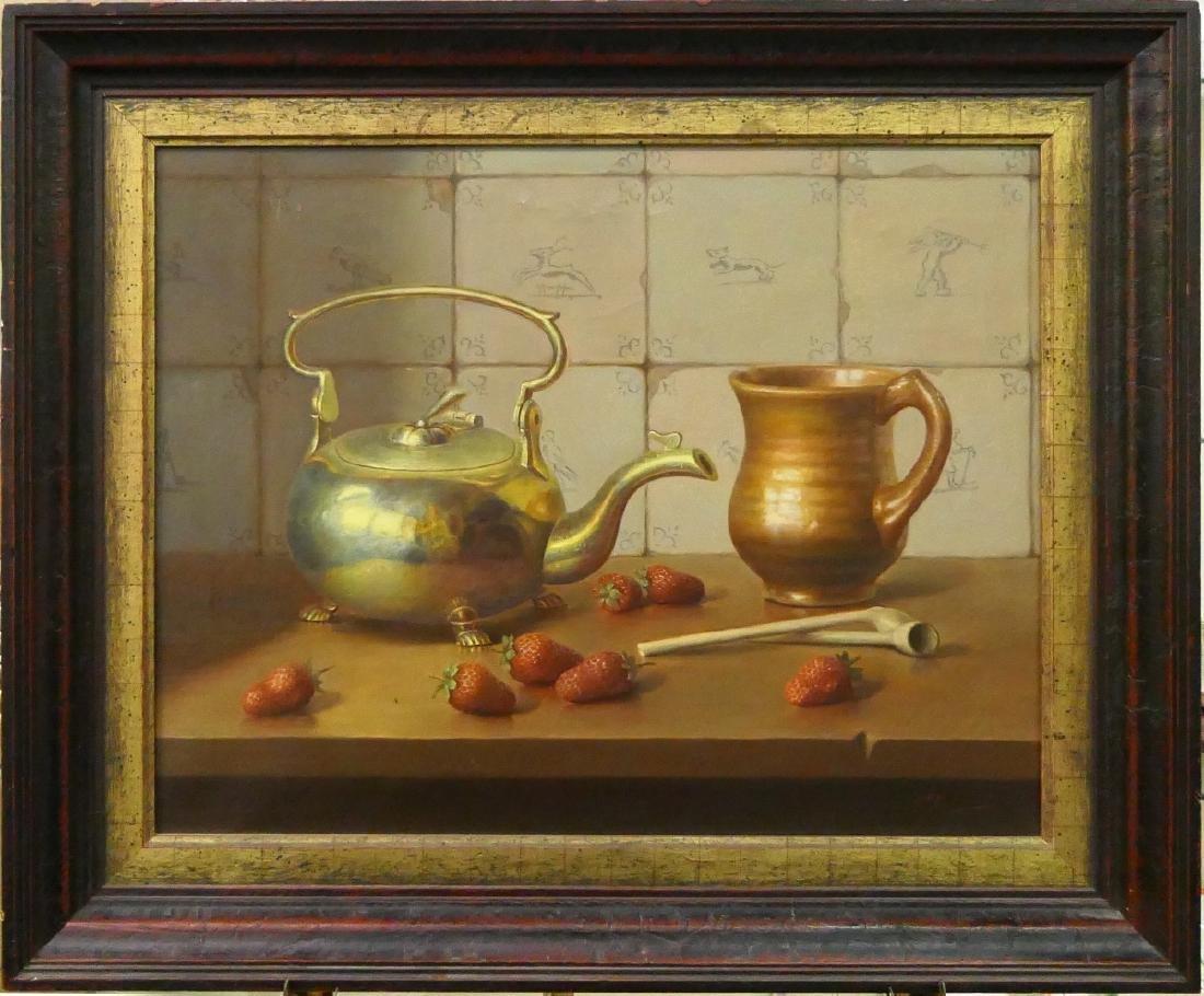 EDUARD MOLEVELD (DUTCH b1946) STILL LIFE OIL