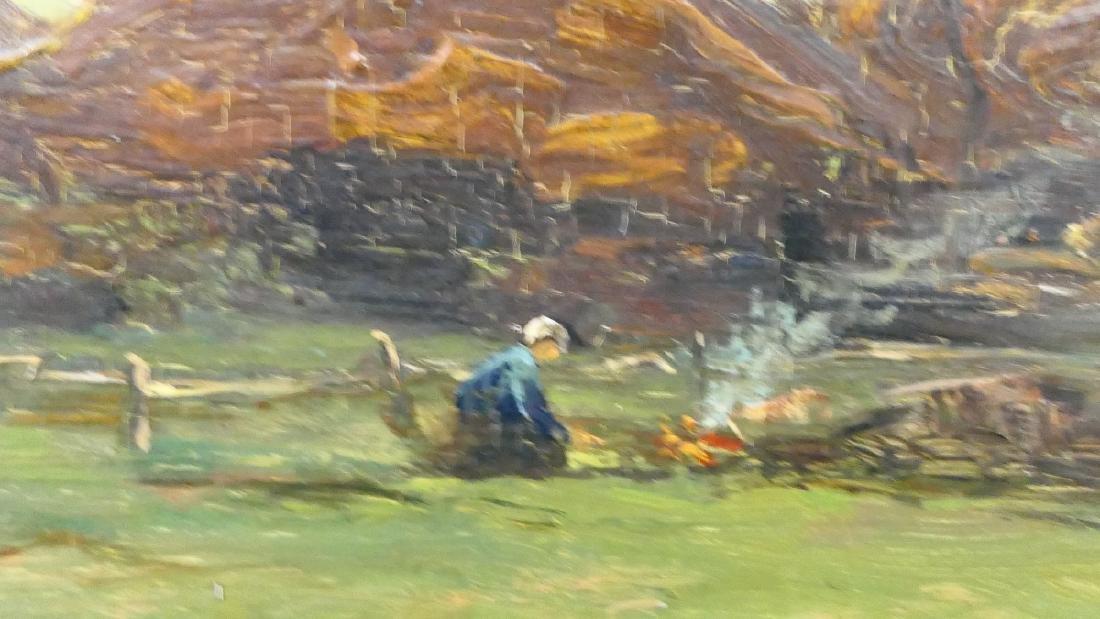 G DERKSEN (DUCTH 1870-1920) COTTAGE LANDSCAPE OIL - 2