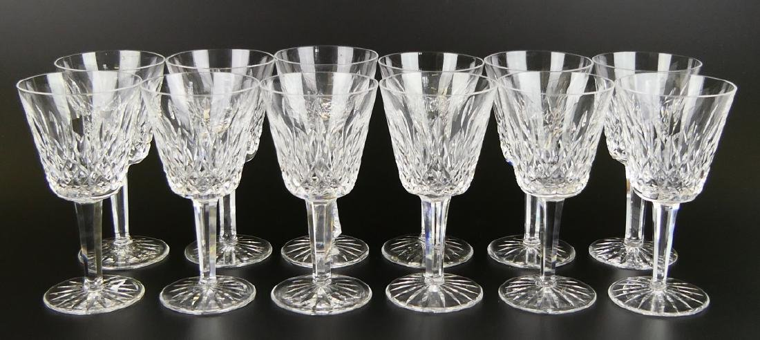 "11 WATERFORD ""LISMORE"" WINE GLASSES + 1 ""KENMARE"""
