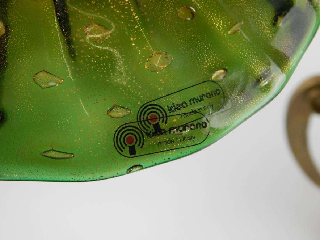 3pc IDEA MURANO EMERALD GLASS GARNITURE SET - 7