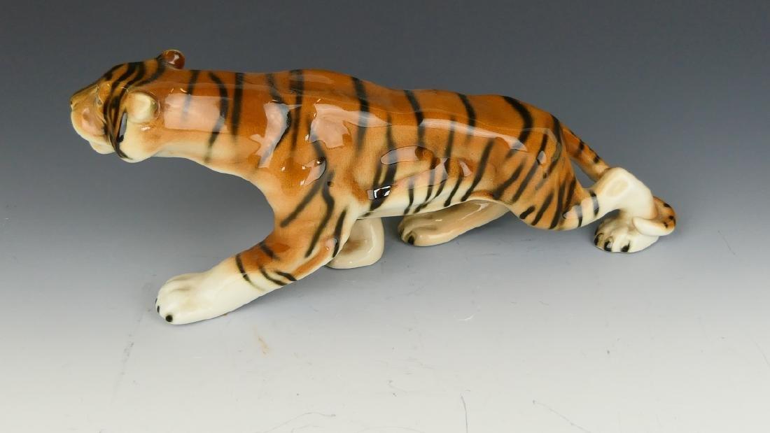 ROYAL DUX BOHEMIA PORCELAIN TIGER FIGURE - 2