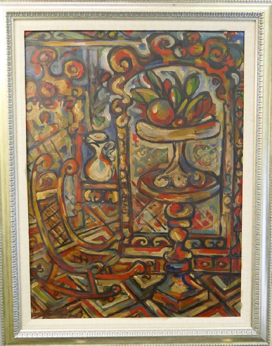 """RENE PORTOCARRERO (CUBA 1912-1985) """"INTERIOR"""" OIL"""