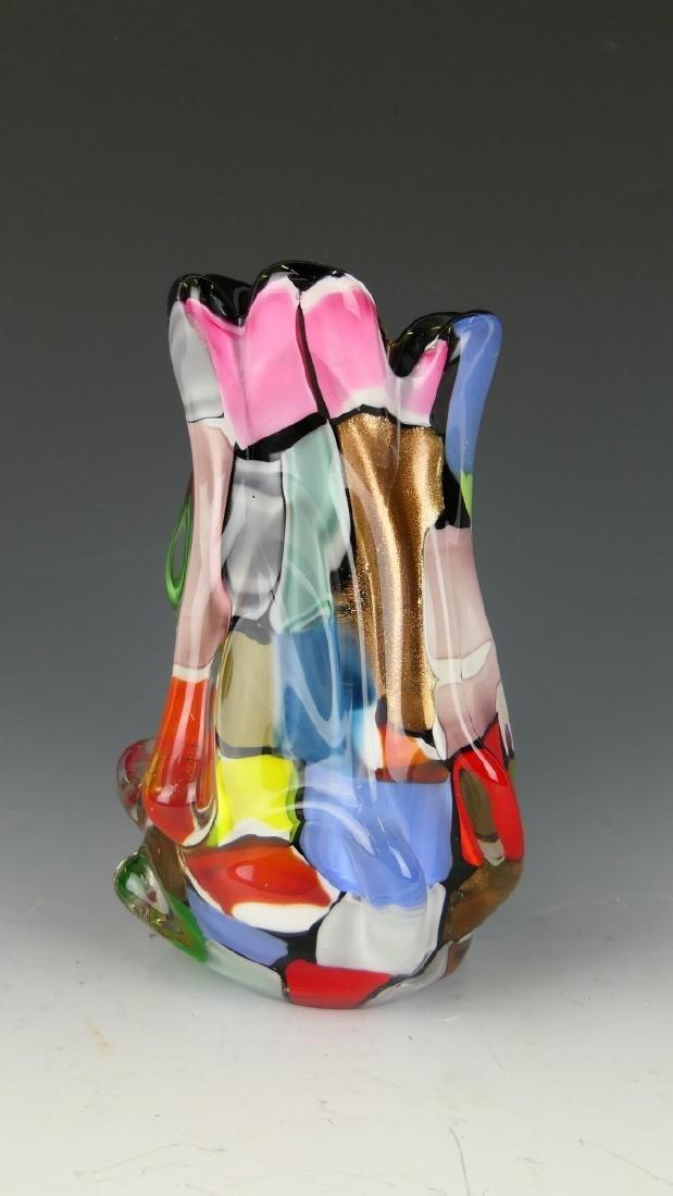 VINTAGE MURANO MULTI-COLOR ART GLASS VASE