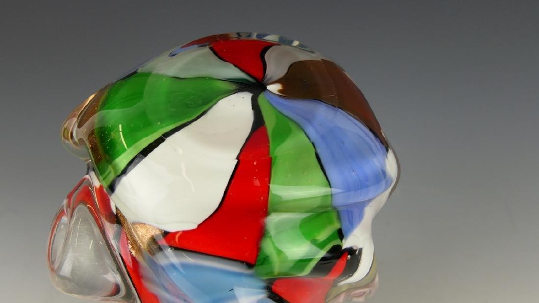 VINTAGE MURANO MULTI-COLOR ART GLASS VASE - 4
