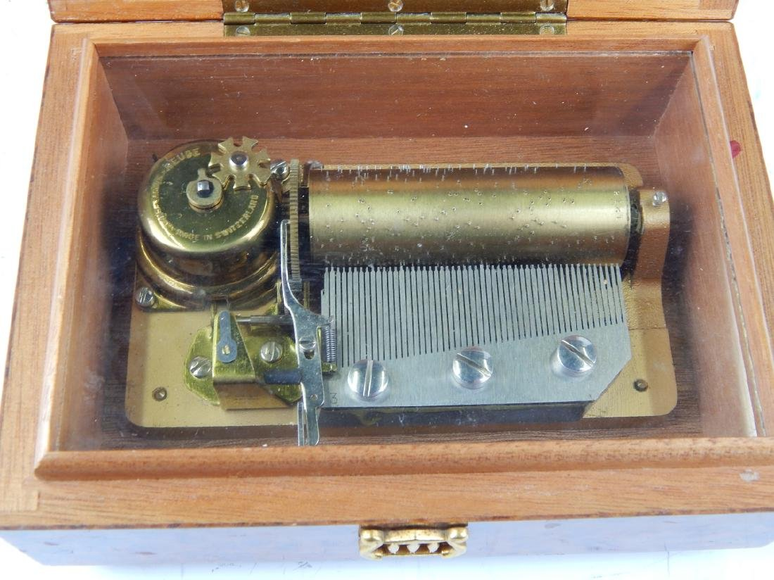 VINTAGE REUGE BURLWOOD MECHANICAL MUSIC BOX - 4
