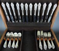59pc WALLACE SIR CHRISTOPHER STERLING FLATWARE SET