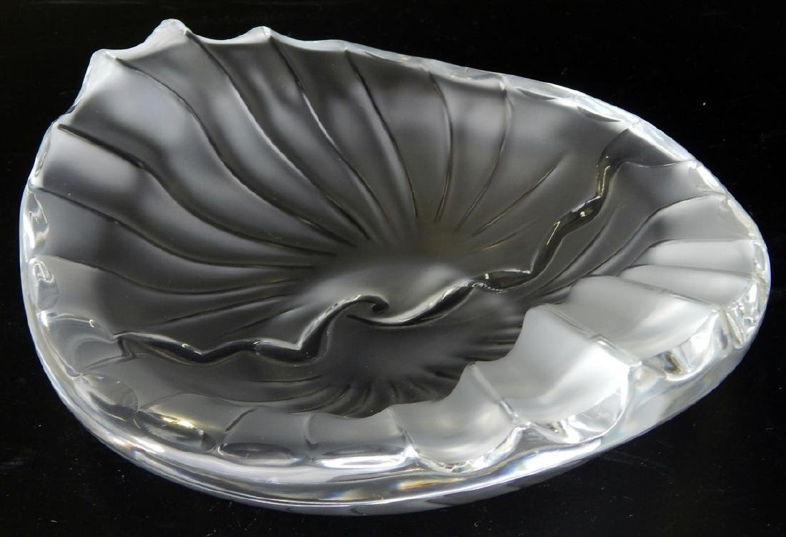 LALIQUE NANCY RARE FROSTED RETIRED BOWL/TRAY - 2