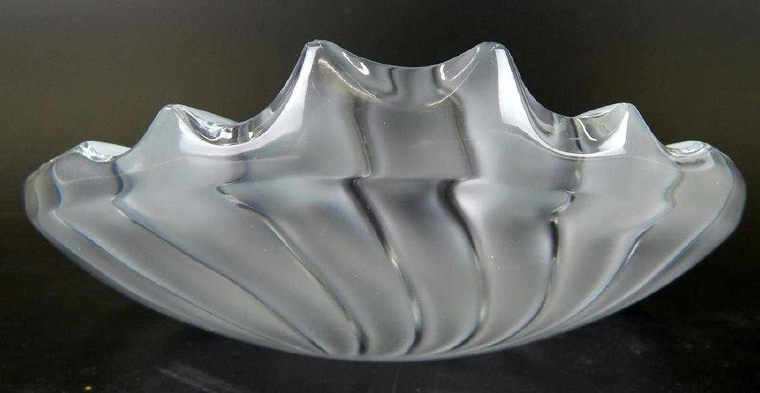 LALIQUE NANCY RARE FROSTED RETIRED BOWL/TRAY - 4
